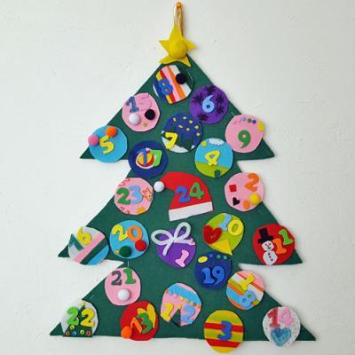 Un calendrier de Noël en feutrine à réaliser