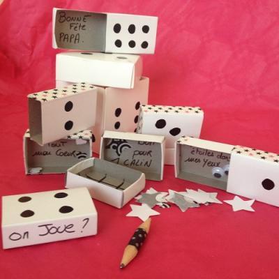 tuto de bricolage enfants pour réaliser un jeu de boîte à surprise