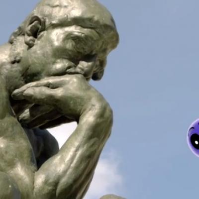 Le penseur de Rodin expliqué aux enfants par la série Petits pas vers l'art de francetv éducation