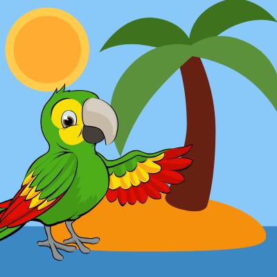 Lire et chanter une chanson  : lle perroquet , une chanson pour les enfants