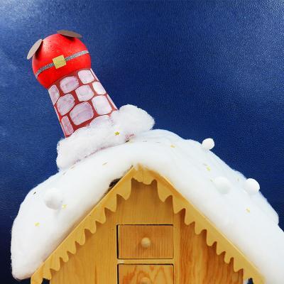 Une activité de Père Noël rigolote à faire quand Noël approche. Le Papa Noël est resté coincé dans la cheminée. Il n'y a que son popotin qui dépasse ! Comme c'est drôle !