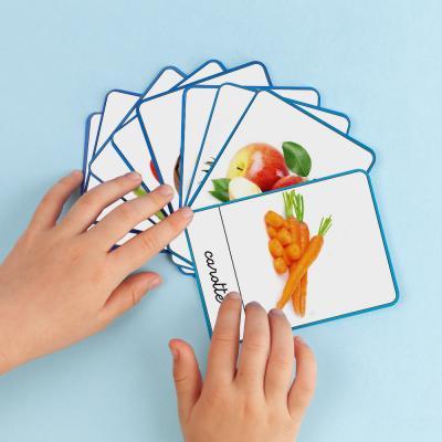 imagier Montessori à imprimer gratuitement. Imprimez un imagier de fruits et de légumes pour proposer une activité tirée de la pédagogie Montessori aux enfants. Activité rapide et intelligente à proposer aux enfants.