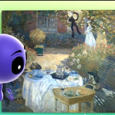 La série petits pas vers l'art revient sur le tableau Le déjeuner de Claude Monet