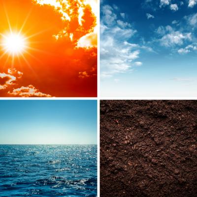 5 éléments sont indispensables à la vie. On retrouve ces 5 éléments à des niveaux variables dans tous les biotopes. Les cinq éléments de vie sont l'eau, le sol, l'air,
