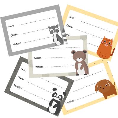 Étiquettes de cahiers à télécharger et à imprimer gratuitement