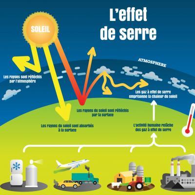 Plusieurs gaz contribuent à l'effet de serre qui permet de maintenir une chaleur suffisante pour que la terre soit habitable. Le gaz à effet de serre le plus important et à la fois le plus connu est le dioxyde de