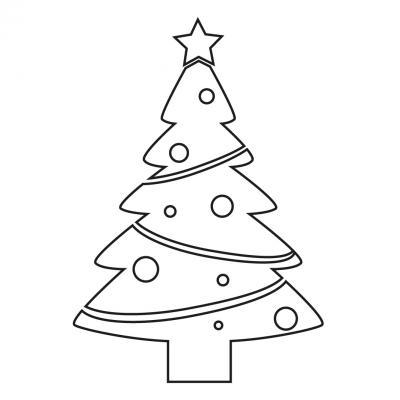 Des pochoirs de Noël à imprimer pour les décorations des enfants à l'occasion de Noël.