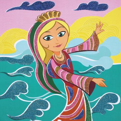 Voici 3 tableaux à paillettes sur le thème des princesses ! Une bonne idée d'activité pour les petites princesses qui seront parfaites pour décorer leur chambre.