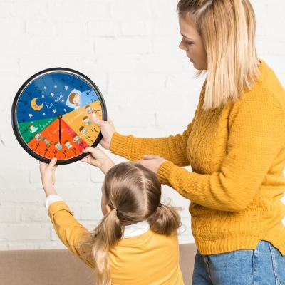 Découvrez notre horloge Montessori 24h à imprimer gratuitement pour aider les enfants à se repérer dans le temps et à apprendre l'heure.