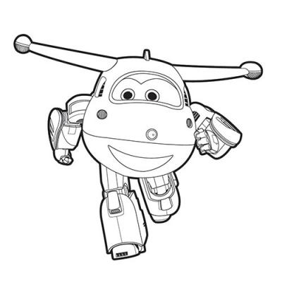 Les coloriages de super wings - Super hero dessin ...