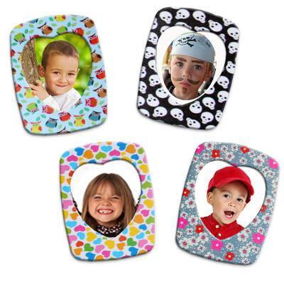 Magnets photo décorés de papier fantaisie