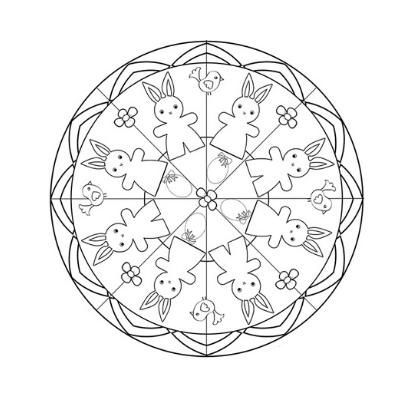 Mandala Paques Imprimez Vos Dessins Avec Tete A Modeler