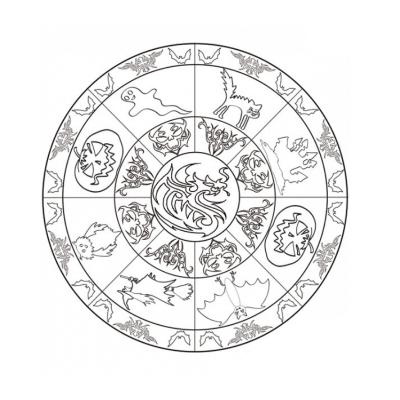 Retrouvez les personnages et les symboles d'Halloween dans des mandalas à colorier. Le mandala d'Halloween permet de concilier le plaisir, la concentration et la précision du geste !
