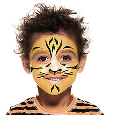Tutoriel pour apprendre à maquiller son enfant en tigre