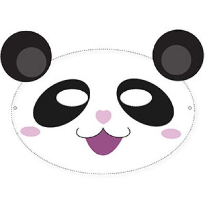 Un masque de panda à imprimer gratuitement pour le Carnaval. copie copie copie