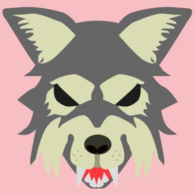 Masque d'Halloween à imprimer gratuitement afin d'avoir un déguisement de loup de dernière minute. Il suffira de l'imprimer sur du papier épais, de la découper afin de pouvoir partir à la chasse aux bonbons !