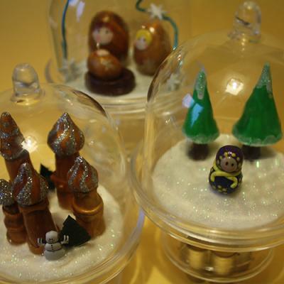 Des mini cloches à personnaliser avec de la pâte FIMO