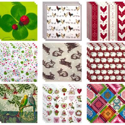 Créer et préparer des motifs découpés dans des serviettes