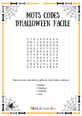 Voici un jeu de mots codés d'Halloween. Un jeu Halloween à imprimer gratuitement. Page 2