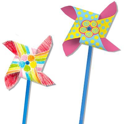 Moulins à vent enfants à décorer