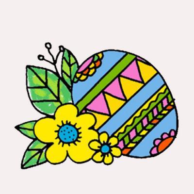 Oeufs de Pâques à imprimer