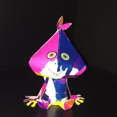 tuto bricolage activite enfants paper toy