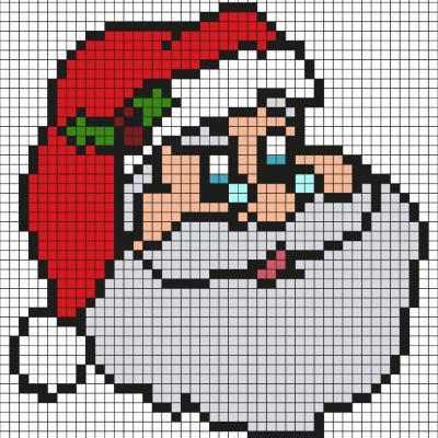 Découvrez comment réaliser ce beau Père Noël grâce au Pixel Art. Pour cela, prenez une feuille quadrillée et reproduisez chaque carré coloré afin de créer petit à petit ce père Noël qui sera ravi de passer Noël avec vous.