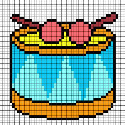 Modèle de Pixel art pour faire un instrument de musique, un tambour Il suffit de suivre notre modèle afin de réaliser chaque carré. Petit à petit vous arriverez à réaliser ce tambour ! Imprimez rapidement notre grille quadrillée et mettez-vous au