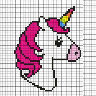 Comment faire une licorne en Pixel Art ? Découvrez notre modèle simple qui vous permettra de créer facilement une licorne en Pixel Art. Il vous suffira de prendre du papier quadrillé et de suivre notre modèle carré après carré.