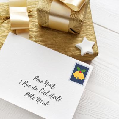 Imprimer la planche de faux timbres Pere Noel pour le bricolage de votre enfant - des timbres de Noel pour s'amuser et décorer le courrier d'enfant