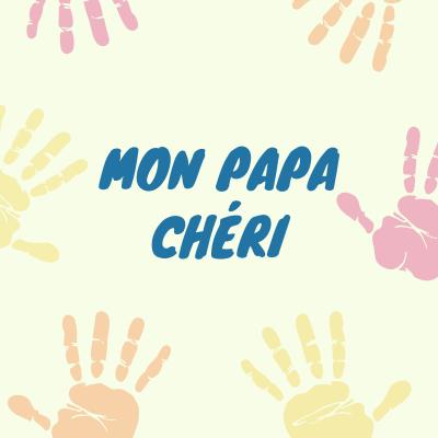 """""""Mon papa chéri"""" est un joli poème pour dire """"je t'aime"""" à son papa le jour de la Fête des pères. Ce poème est inscrit dans des cœurs et est à imprimer et à colorier pour faire une jolie carte à glisser dans une belle enveloppe puis à offrir à la fête des"""