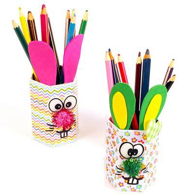 Pots à crayons tête de lapin