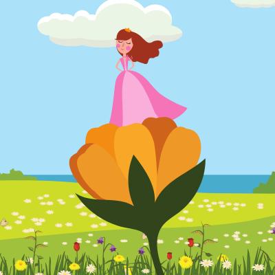 Poucette ou la petite poucette raconte l'histoire une fille née dans une fleur, chantant d'une voix mélodieuse qui va vivre de folles aventures. Un conte magique d'Andersen