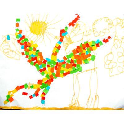 Oiseau de mosaïque  en papier
