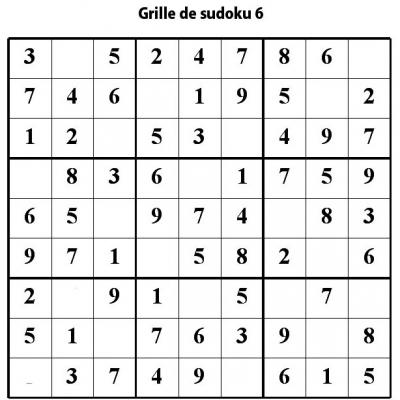 Sudoku primaire - Niveau 2 - Grille 6 - Tête à modeler
