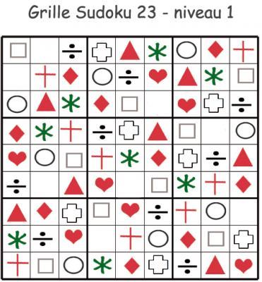 Sudoku grille 23 - Sudoku Maternelle . Sudoku pour la maternelle. cette grille de sudoku est à compléter en collant les visuels de fruits et légumes. Grille de sudoku 20 à compléter en collant les vig