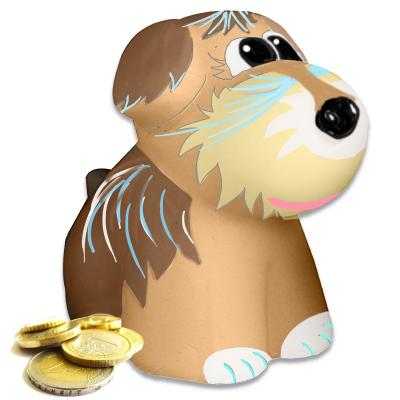 Tirelire chien manga