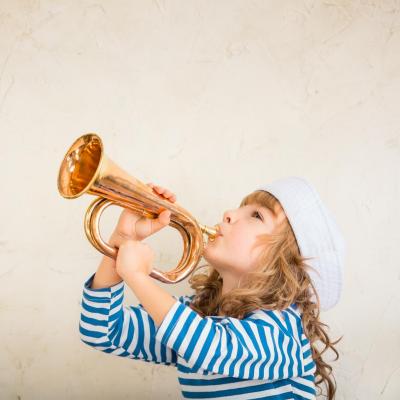 trompette - mot du glossaire Tête à modeler. Définition et activités associées au mot trompette.