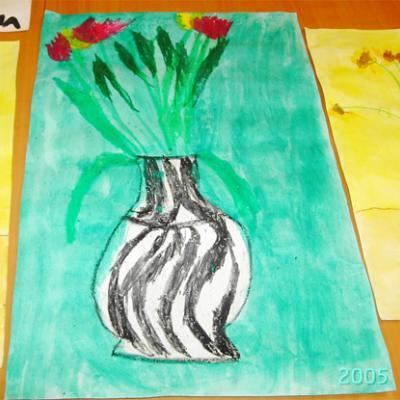 """Peindre à la manière de Matisse inspiré du tableau """"Les tulipes"""". Activité pour peindre un tableau en partant à la découverte de la peinture de Matisse. Fiche envoyé pa"""