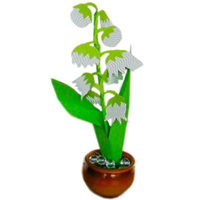 Bricolage expliqué pour fabriquer un pot de muguet. Ce pot de muguet sera en fleur pour le 1 er mai ! Il est à fabriquer à l'occasion de la fête du travail !