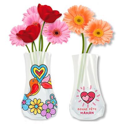 Vase à décorer de stickers coloriés pour maman