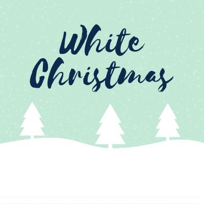 chanson white christmas. Paroles pour carnet de chants et musique. Chanson de Noël en anglais